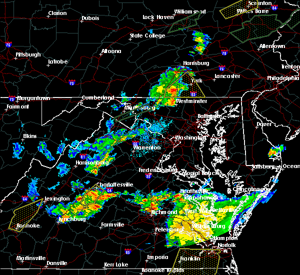 Radar Image for Severe Thunderstorms near Hampton, PA at 6/30/2015 11:11 PM EDT