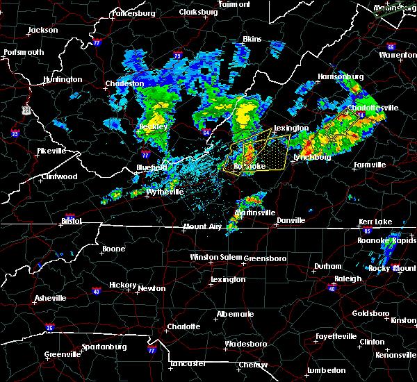 Radar Image for Severe Thunderstorms near Buchanan, VA at 6/30/2015 11:15 PM EDT