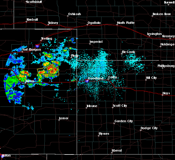 Radar Image for Severe Thunderstorms near Joes, CO at 7/12/2020 4:01 PM MDT