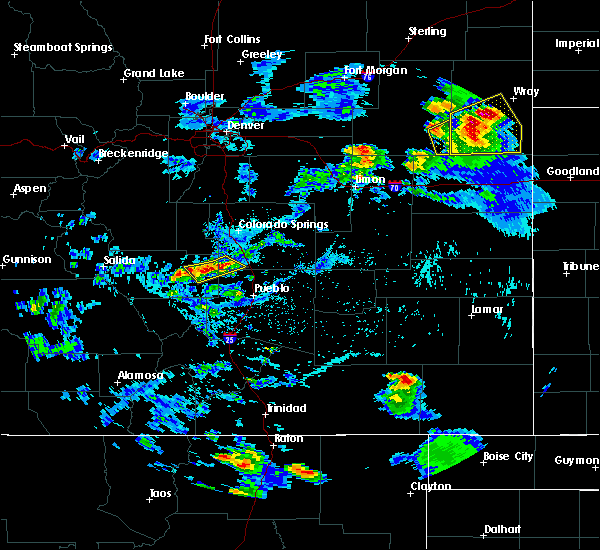 Radar Image for Severe Thunderstorms near Pueblo West, CO at 7/12/2020 4:20 PM MDT