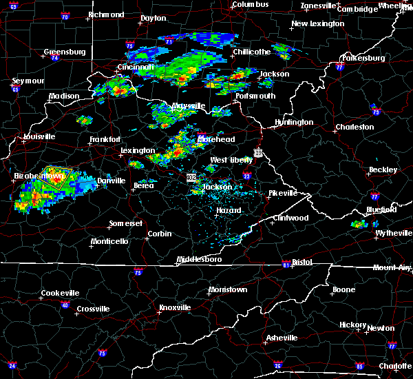 Radar Image for Severe Thunderstorms near Frenchburg, KY at 7/12/2020 6:19 PM EDT