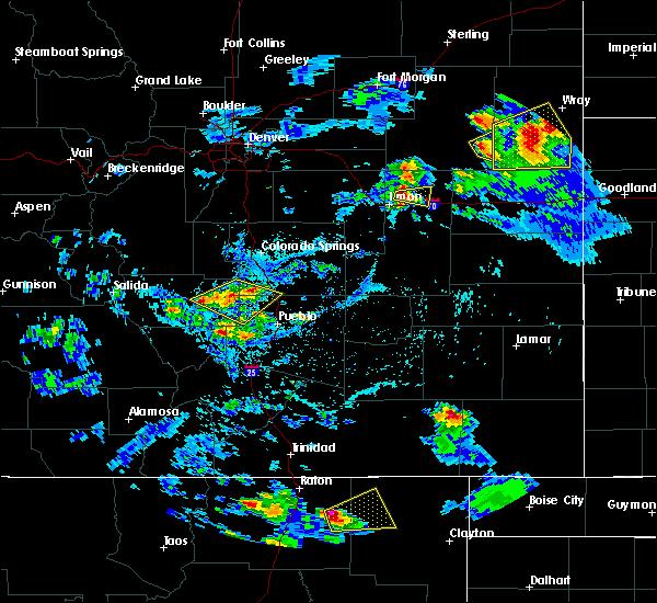 Radar Image for Severe Thunderstorms near Capulin, NM at 7/12/2020 4:28 PM MDT
