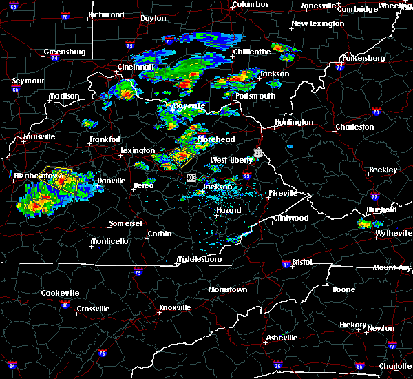 Radar Image for Severe Thunderstorms near Frenchburg, KY at 7/12/2020 6:30 PM EDT