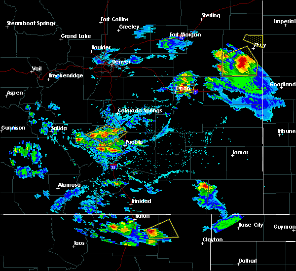 Radar Image for Severe Thunderstorms near Pueblo West, CO at 7/12/2020 4:35 PM MDT