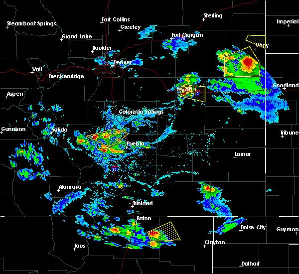 Radar Image for Severe Thunderstorms near Capulin, NM at 7/12/2020 4:40 PM MDT