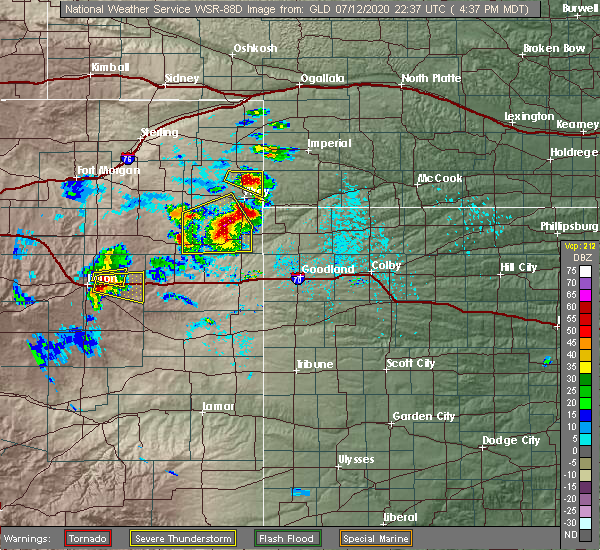 Radar Image for Severe Thunderstorms near Laird, CO at 7/12/2020 5:42 PM CDT