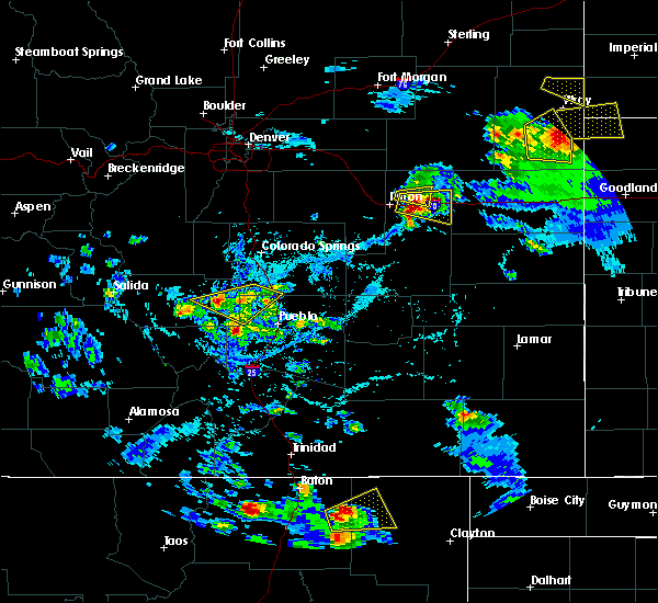 Radar Image for Severe Thunderstorms near Pueblo West, CO at 7/12/2020 4:50 PM MDT