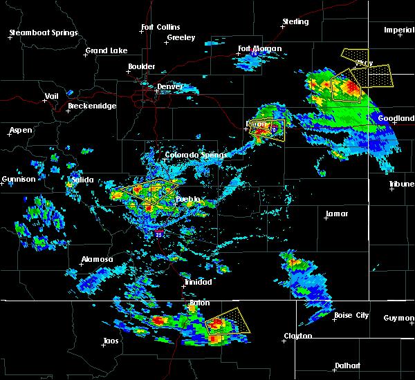 Radar Image for Severe Thunderstorms near Capulin, NM at 7/12/2020 4:52 PM MDT