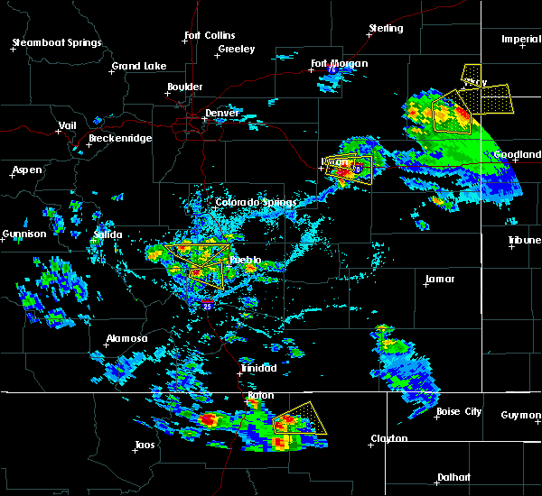 Radar Image for Severe Thunderstorms near Pueblo West, CO at 7/12/2020 4:54 PM MDT