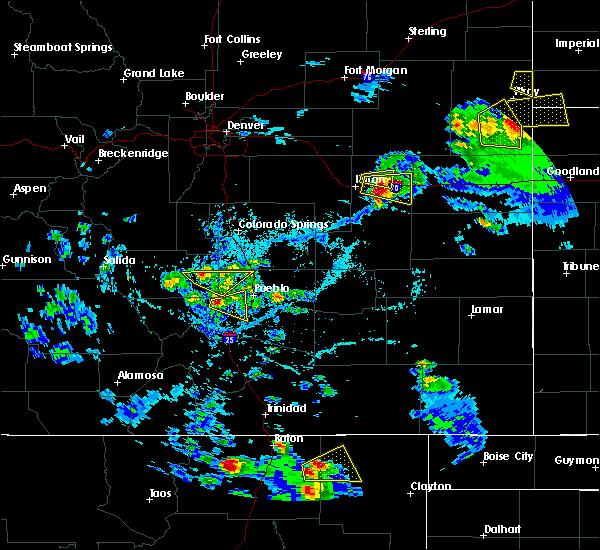 Radar Image for Severe Thunderstorms near Hugo, CO at 7/12/2020 4:56 PM MDT
