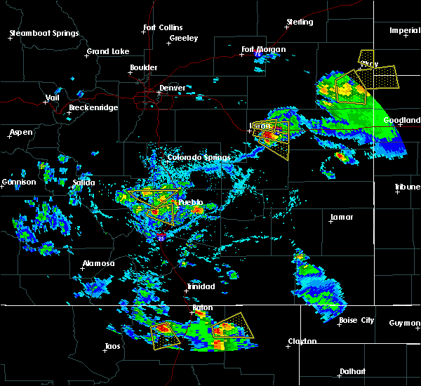 Radar Image for Severe Thunderstorms near Pueblo West, CO at 7/12/2020 5:02 PM MDT