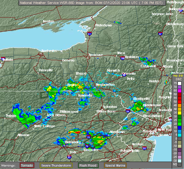 Radar Image for Severe Thunderstorms near Ringtown, PA at 7/12/2020 7:09 PM EDT