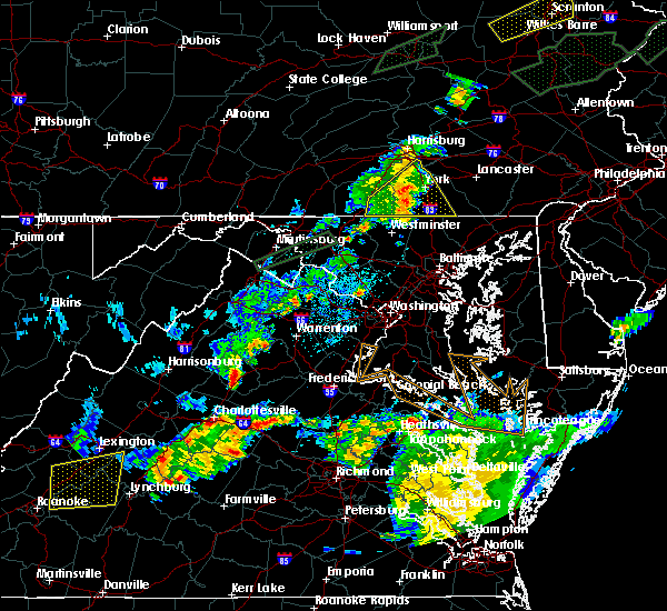Radar Image for Severe Thunderstorms near Spry, PA at 6/30/2015 11:31 PM EDT