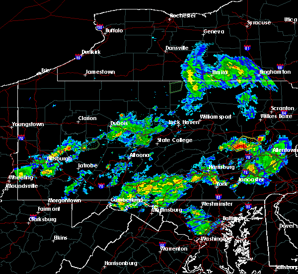 Radar Image for Severe Thunderstorms near Ringtown, PA at 7/12/2020 7:29 PM EDT