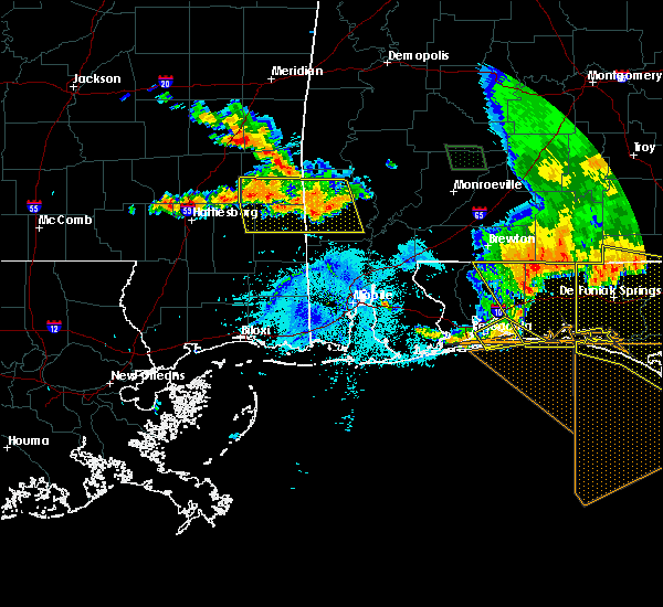 Radar Image for Severe Thunderstorms near State Line, MS at 7/12/2020 6:51 PM CDT