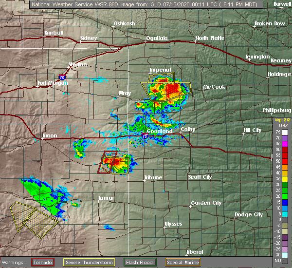 Radar Image for Severe Thunderstorms near Wauneta, NE at 7/12/2020 6:18 PM MDT