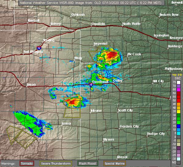 Radar Image for Severe Thunderstorms near Palisade, NE at 7/12/2020 7:28 PM CDT