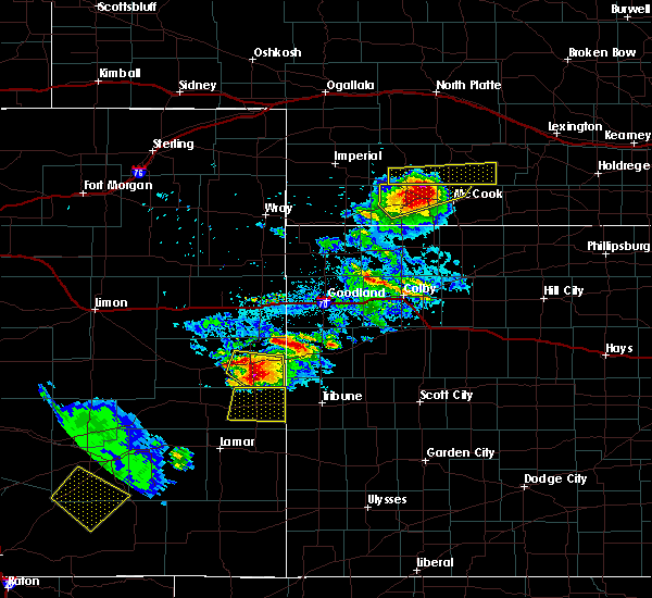 Radar Image for Severe Thunderstorms near Towner, CO at 7/12/2020 6:37 PM MDT