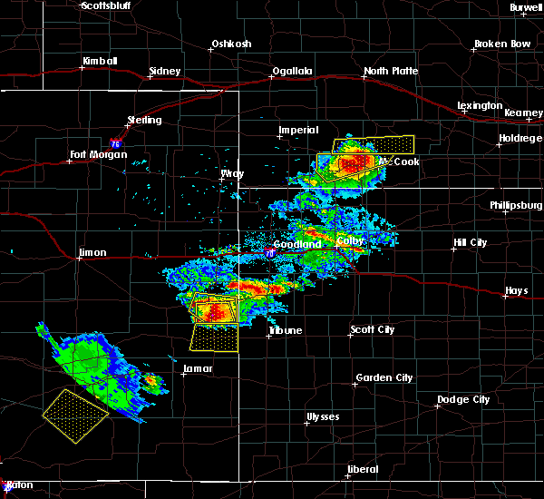 Radar Image for Severe Thunderstorms near Cheyenne Wells, CO at 7/12/2020 6:46 PM MDT