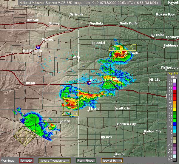 Radar Image for Severe Thunderstorms near Stockville, NE at 7/12/2020 7:57 PM CDT