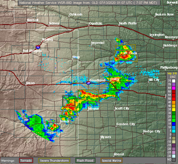 Radar Image for Severe Thunderstorms near Wallace, KS at 7/12/2020 7:18 PM MDT