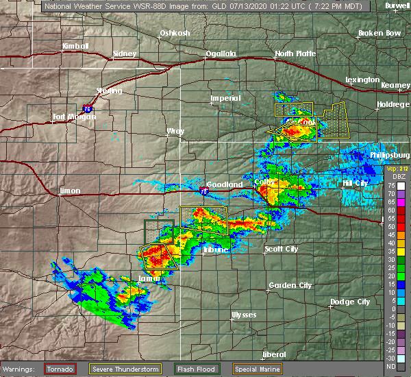 Radar Image for Severe Thunderstorms near Stockville, NE at 7/12/2020 8:25 PM CDT