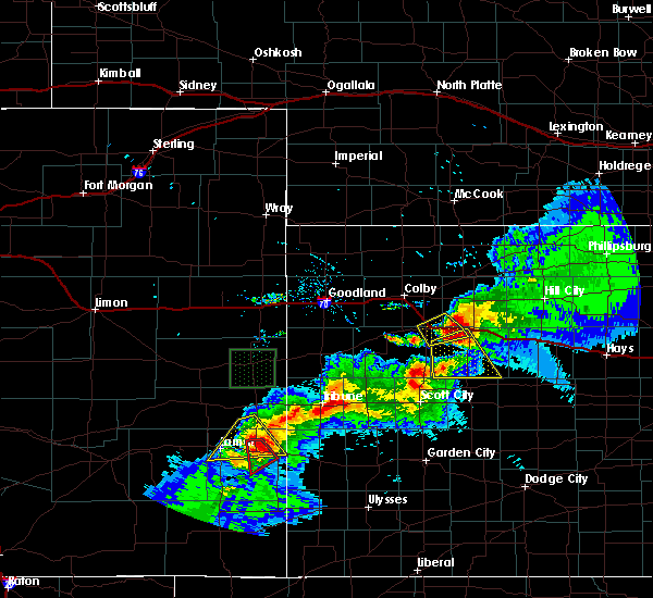 Radar Image for Severe Thunderstorms near Holly, CO at 7/12/2020 8:21 PM MDT