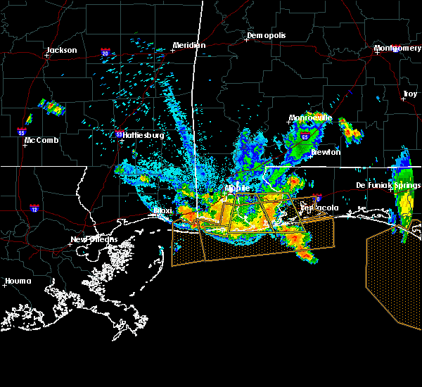 Radar Image for Severe Thunderstorms near Loxley, AL at 7/12/2020 9:22 PM CDT