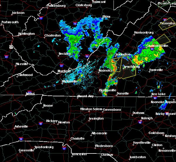 Radar Image for Severe Thunderstorms near Bedford, VA at 6/30/2015 11:57 PM EDT