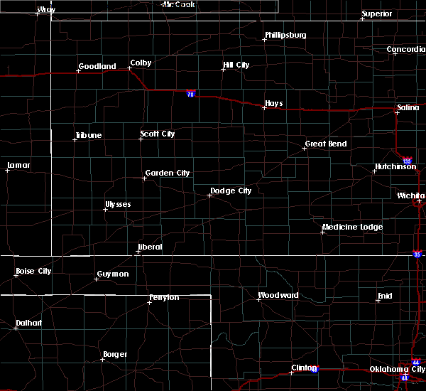 Radar Image for Severe Thunderstorms near Protection, KS at 7/12/2020 11:59 PM CDT