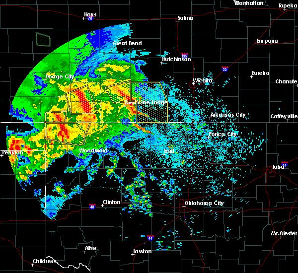 Radar Image for Severe Thunderstorms near Pratt, KS at 7/13/2020 1:49 AM CDT