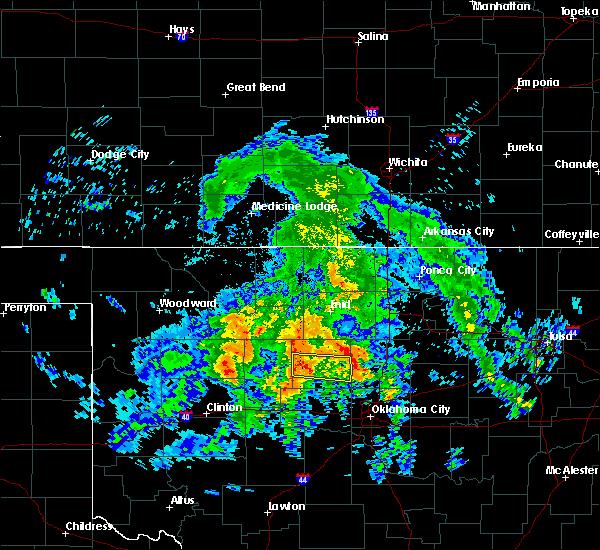 Radar Image for Severe Thunderstorms near Oakwood, OK at 7/13/2020 4:47 AM CDT