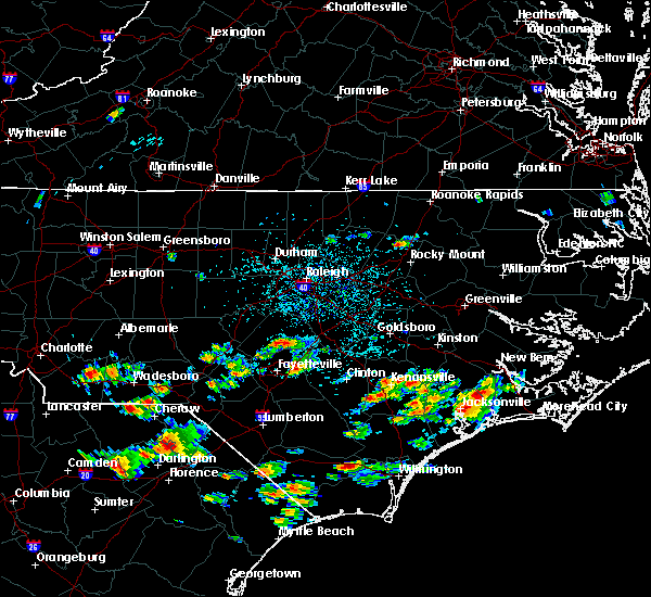 Radar Image for Severe Thunderstorms near Fayetteville, NC at 7/13/2020 2:31 PM EDT