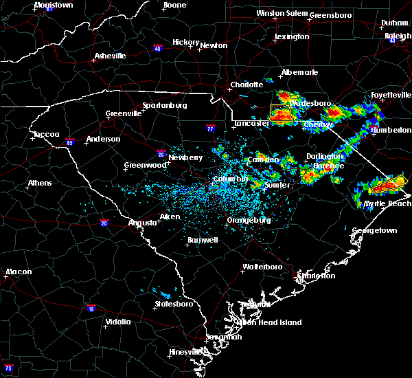 Radar Image for Severe Thunderstorms near Pageland, SC at 7/13/2020 3:32 PM EDT