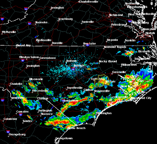 Radar Image for Severe Thunderstorms near Grifton, NC at 7/13/2020 4:43 PM EDT
