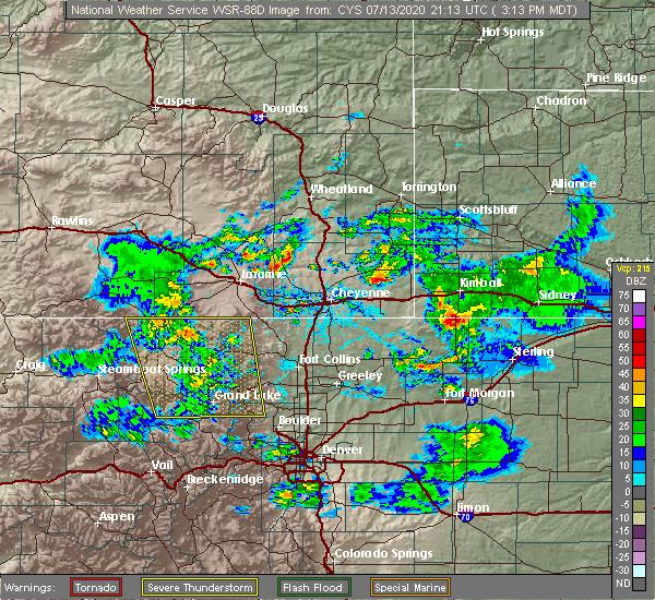 Radar Image for Severe Thunderstorms near Dix, NE at 7/13/2020 3:21 PM MDT