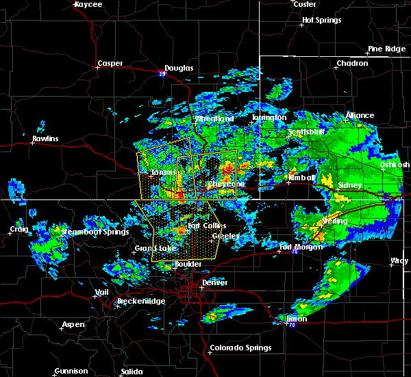 Radar Image for Severe Thunderstorms near Fort Collins, CO at 7/13/2020 4:11 PM MDT