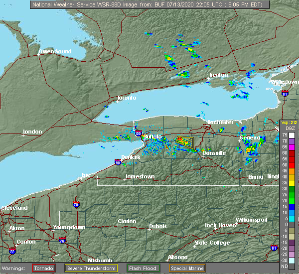 Radar Image for Severe Thunderstorms near Greigsville, NY at 7/13/2020 6:14 PM EDT