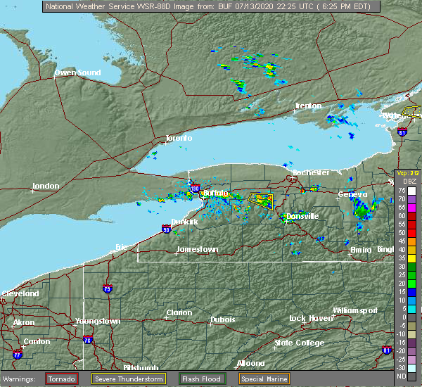 Radar Image for Severe Thunderstorms near Greigsville, NY at 7/13/2020 6:27 PM EDT