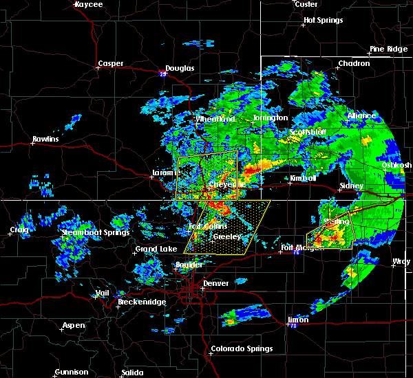 Radar Image for Severe Thunderstorms near Hillsdale, WY at 7/13/2020 4:35 PM MDT