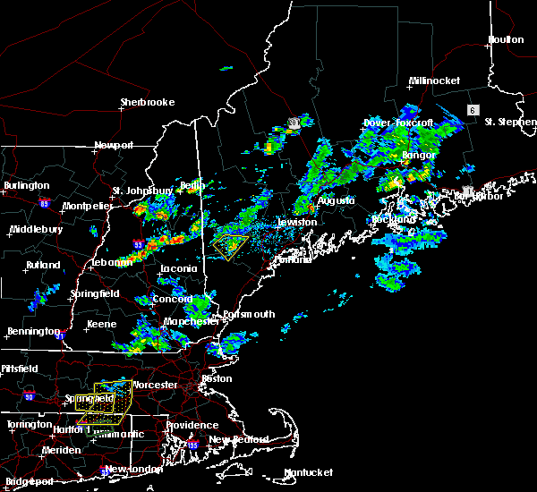 Radar Image for Severe Thunderstorms near Steep Falls, ME at 7/13/2020 7:08 PM EDT