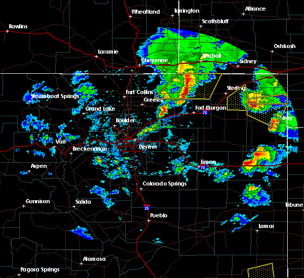 Radar Image for Severe Thunderstorms near Fleming, CO at 7/13/2020 5:29 PM MDT