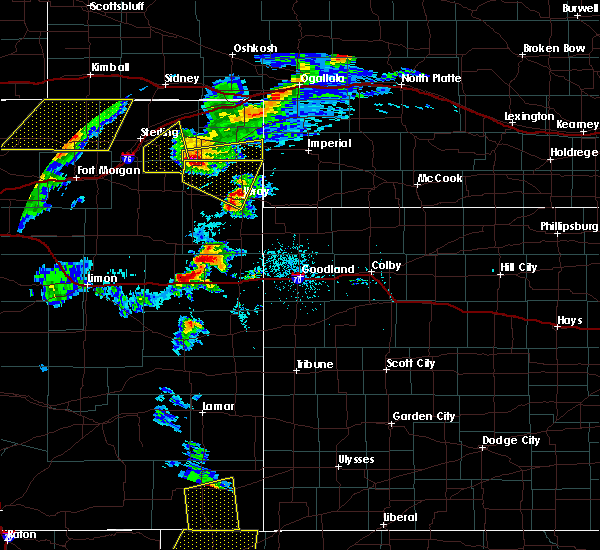 Radar Image for Severe Thunderstorms near Vona, CO at 7/13/2020 5:32 PM MDT