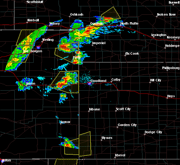 Radar Image for Severe Thunderstorms near Stratton, CO at 7/13/2020 5:51 PM MDT