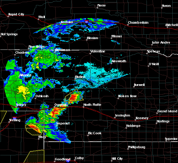 Radar Image for Severe Thunderstorms near Sarben, NE at 7/13/2020 6:00 PM MDT