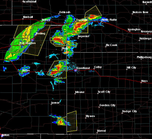 Radar Image for Severe Thunderstorms near Stratton, CO at 7/13/2020 6:06 PM MDT