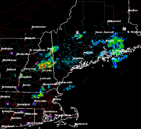Radar Image for Severe Thunderstorms near Melvin Village, NH at 7/13/2020 8:05 PM EDT