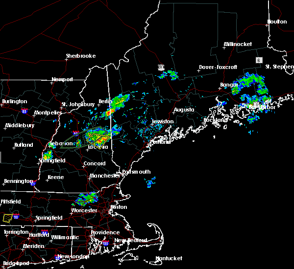 Radar Image for Severe Thunderstorms near Melvin Village, NH at 7/13/2020 8:35 PM EDT