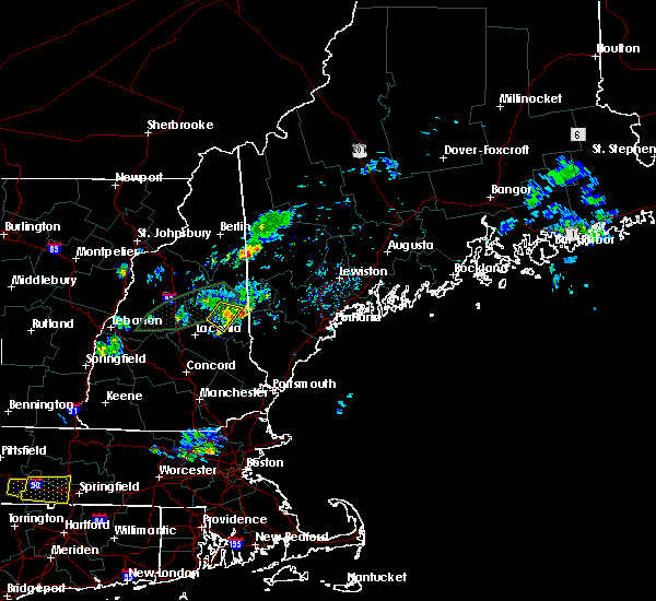 Radar Image for Severe Thunderstorms near Melvin Village, NH at 7/13/2020 8:44 PM EDT