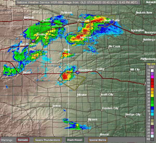 Radar Image for Severe Thunderstorms near Sharon Springs, KS at 7/13/2020 6:53 PM MDT